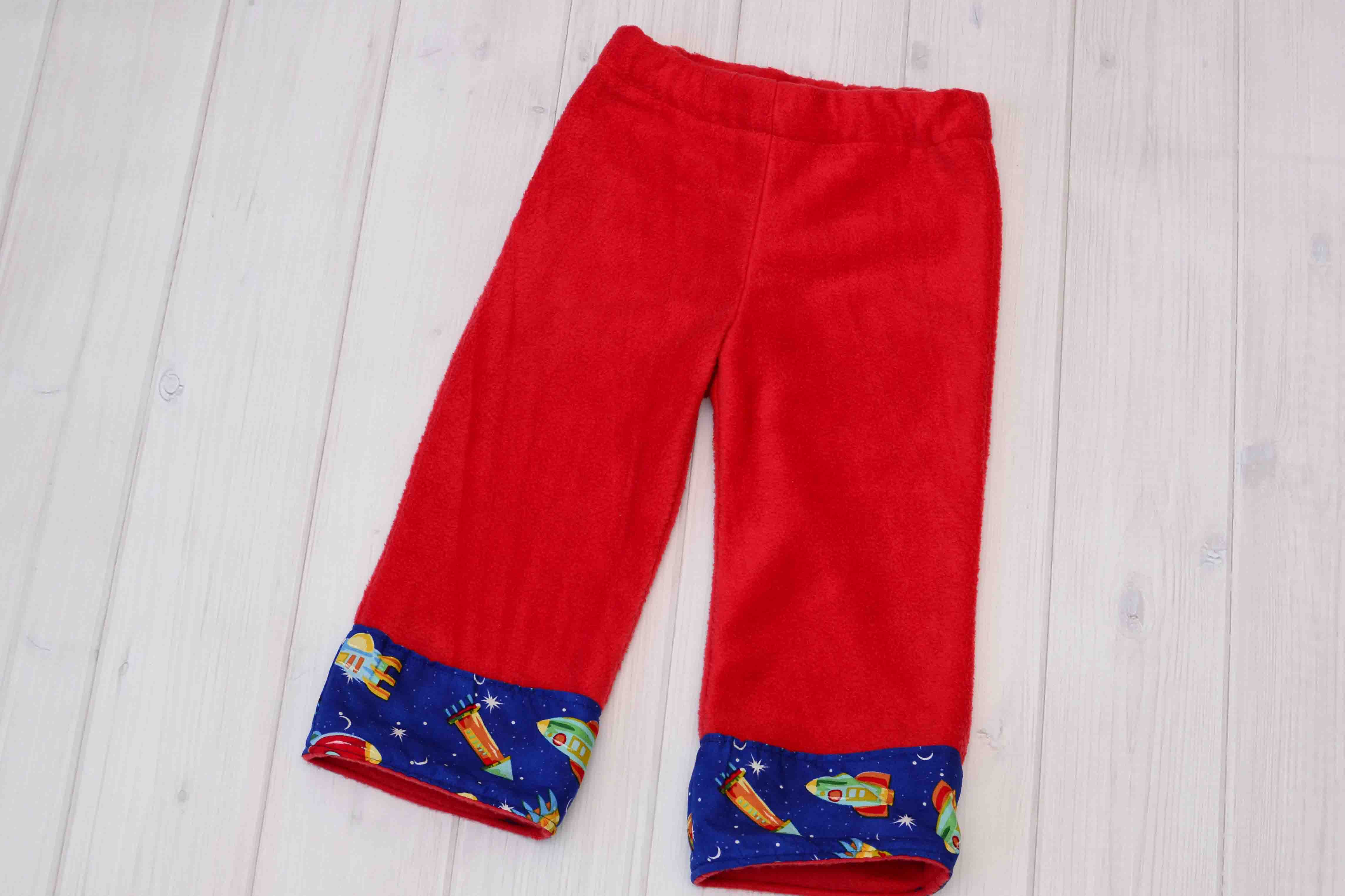 rocket ship fleece pants or longies labor of love baby boutique
