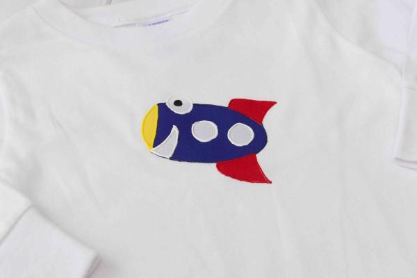 Rocket Ship Applique Shirt