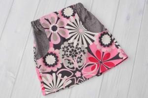 Flowers Corduroy Skirt