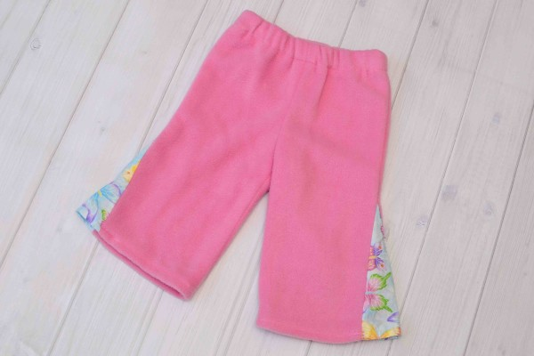 Pink Butterfly Toddler Girl Fleece Pants