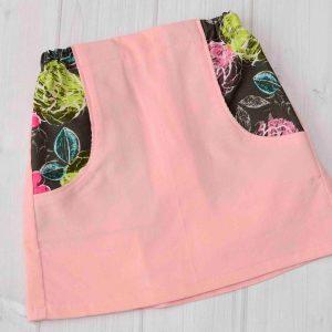 Baby Pink Corduroy Skirt