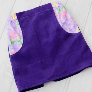 Purple Corduroy Skirt