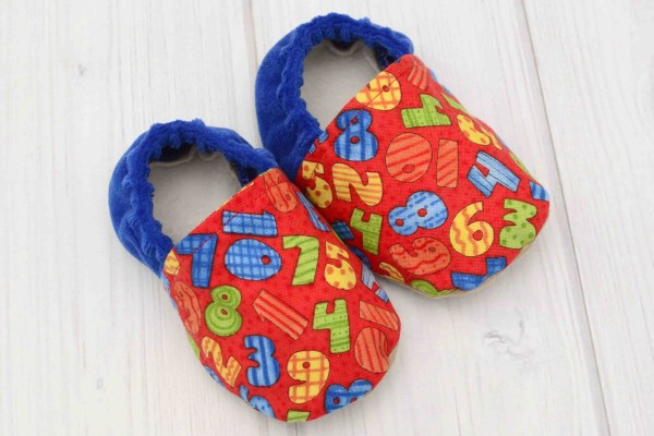 Numbers Baby Shoes