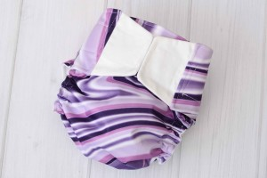 Purple Swirl Cloth Diaper Cover