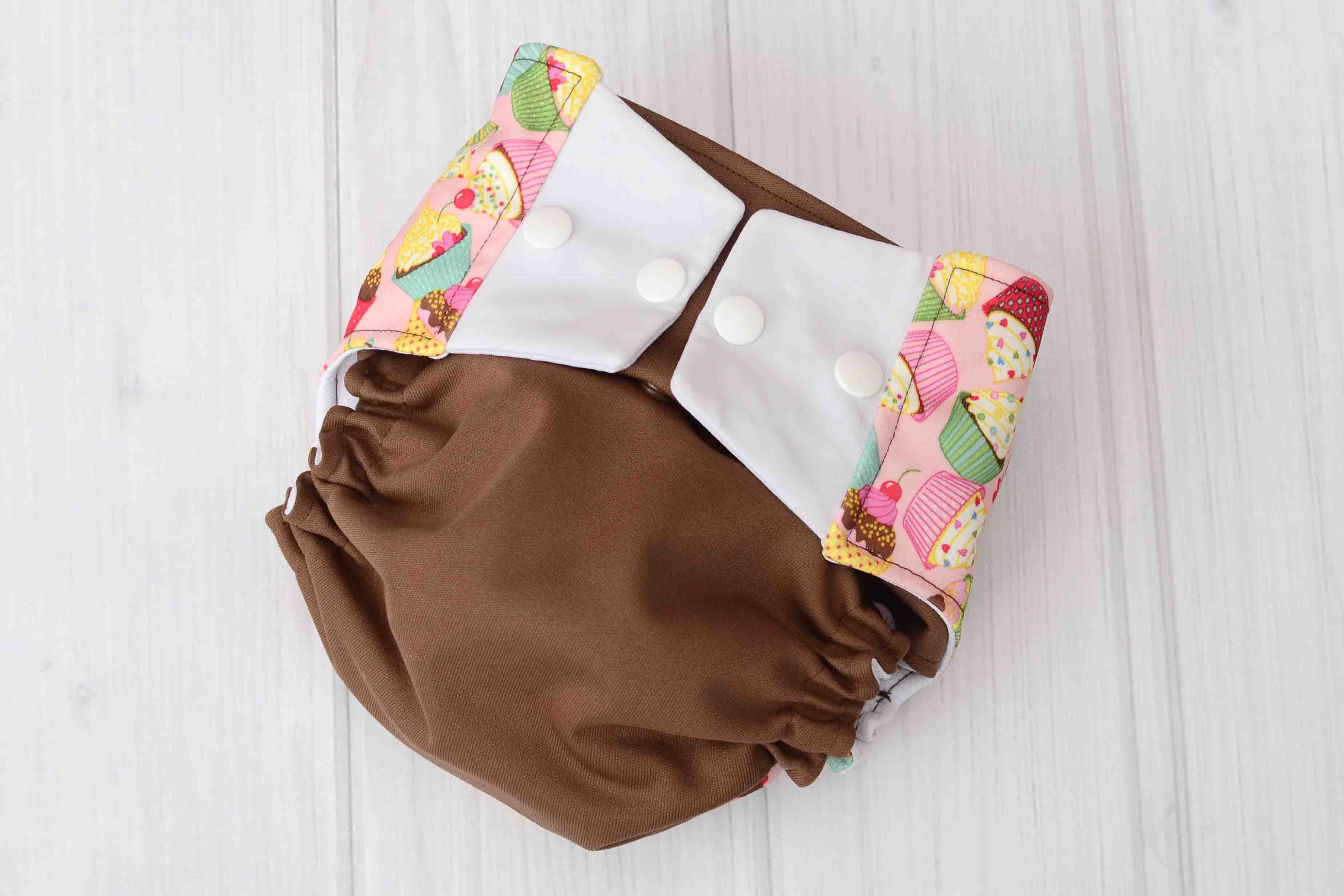 Brown Cupcake Diaper Labor of Love Baby Boutique