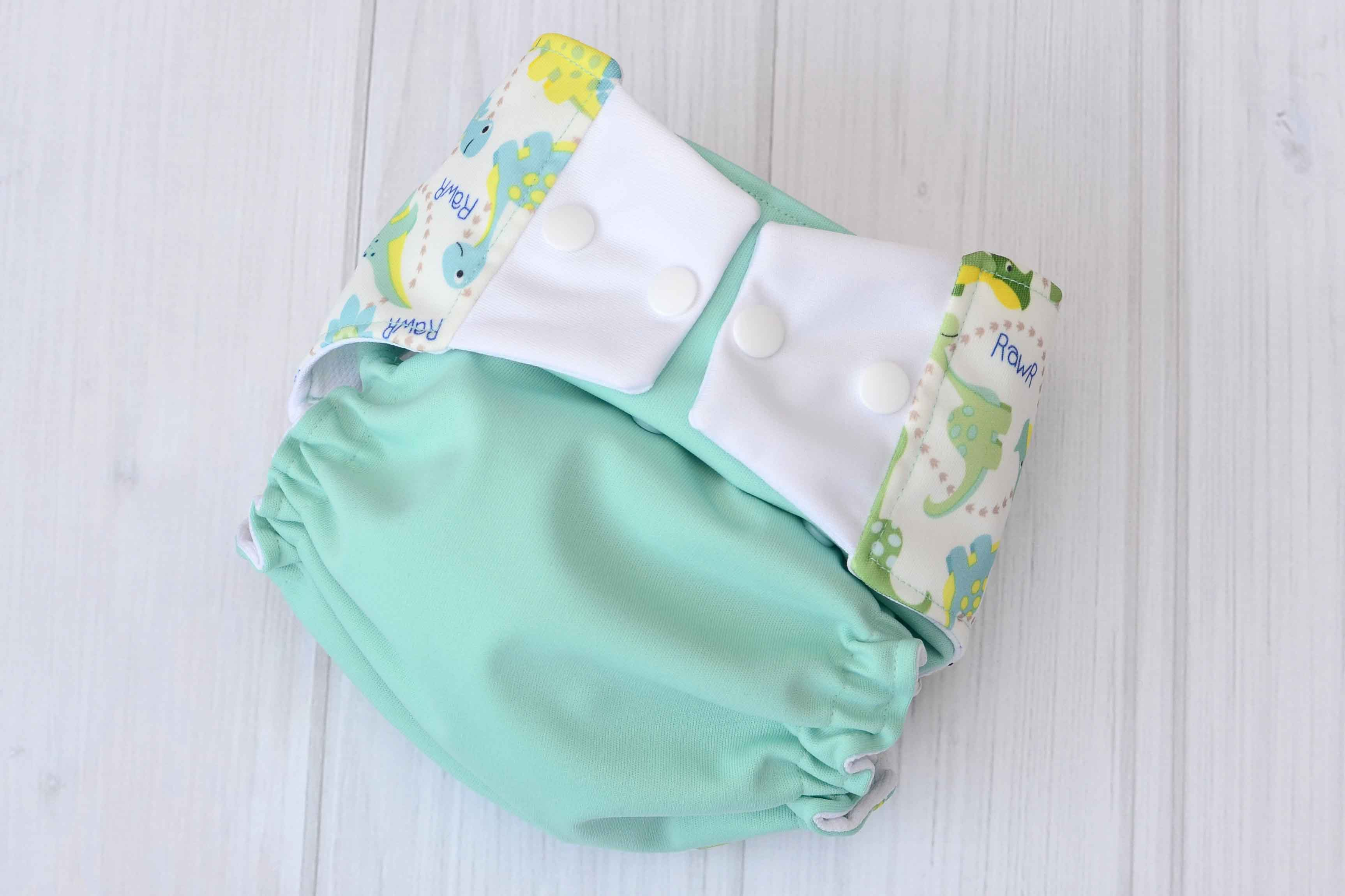 Aqua Dinosaur One Size Cloth Diapers Labor Of Love Baby