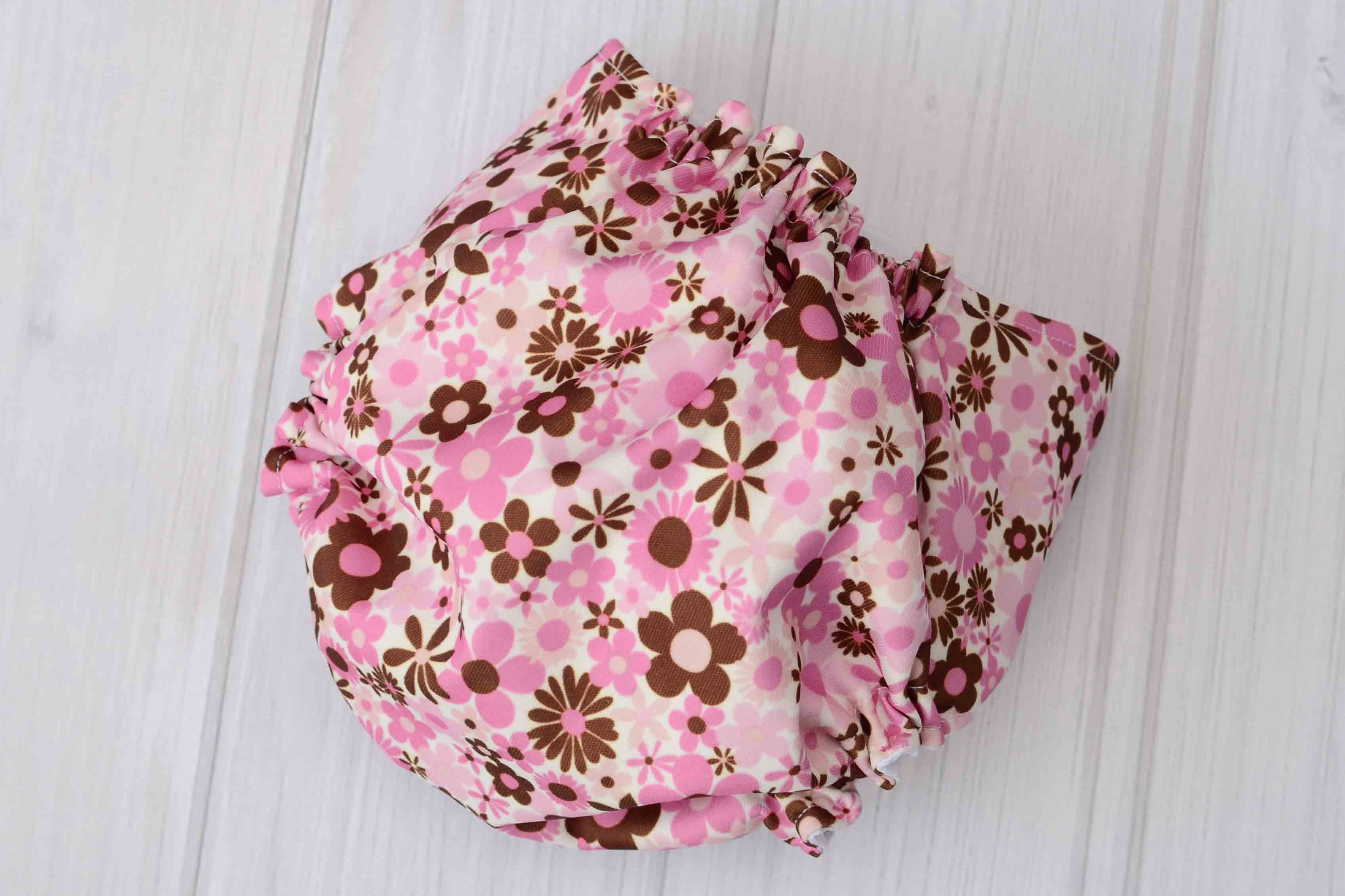 Pink Flowers Diaper Labor of Love Baby Boutique
