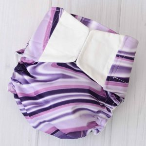 Purple Swirl Diaper