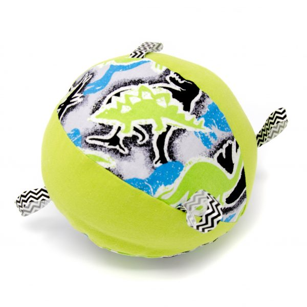 Green Dinosaur Rattle Ball