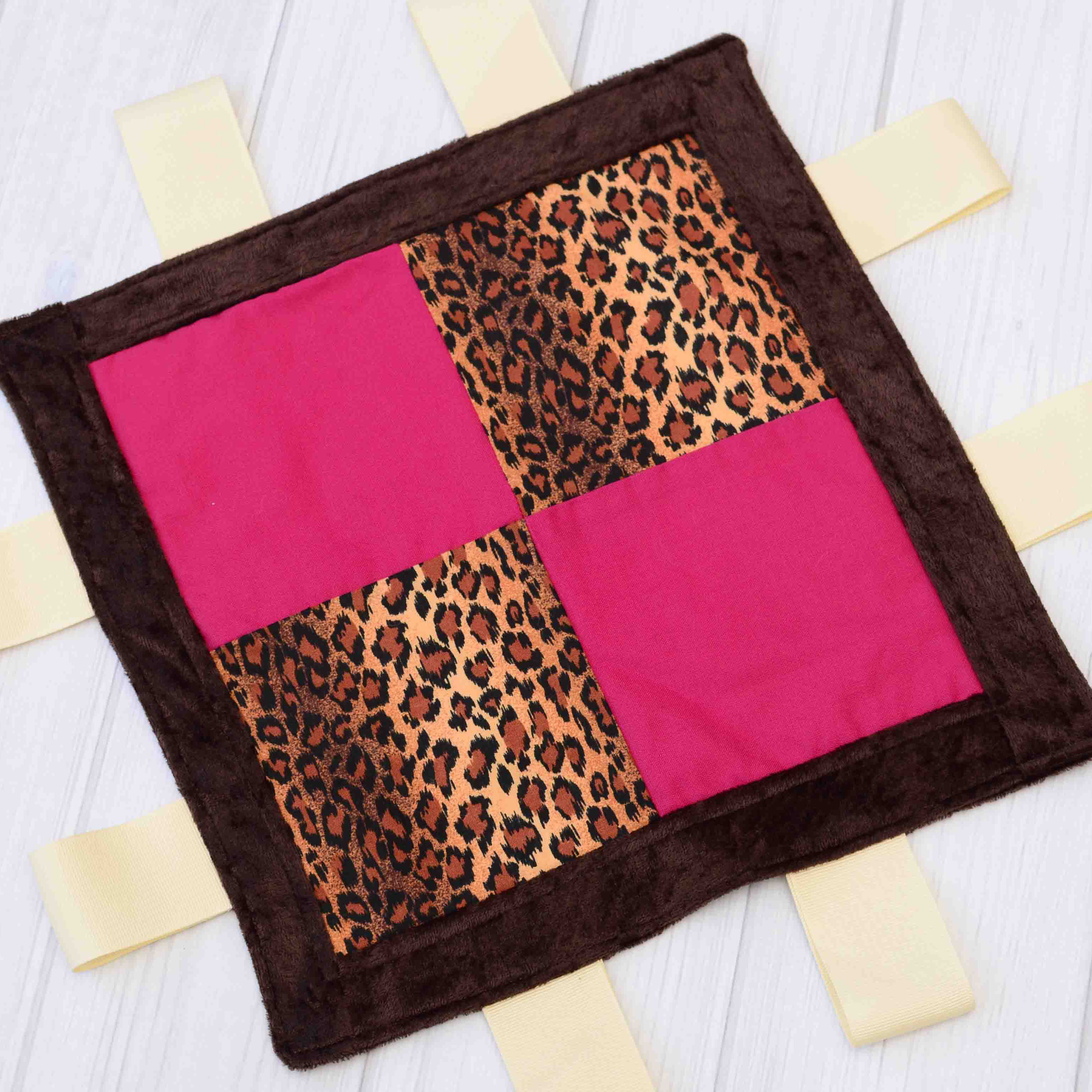 Cheetah Sensory Blanket Toy Labor Of Love Baby Boutique