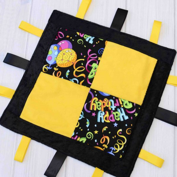 Happy Birthday Sensory Blanket Toy