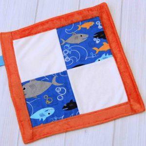Shark Sensory Blanket Toy
