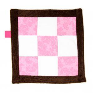 Pink Sensory Blanket Toy