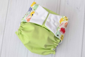 Green Monster Cloth Diaper Cover