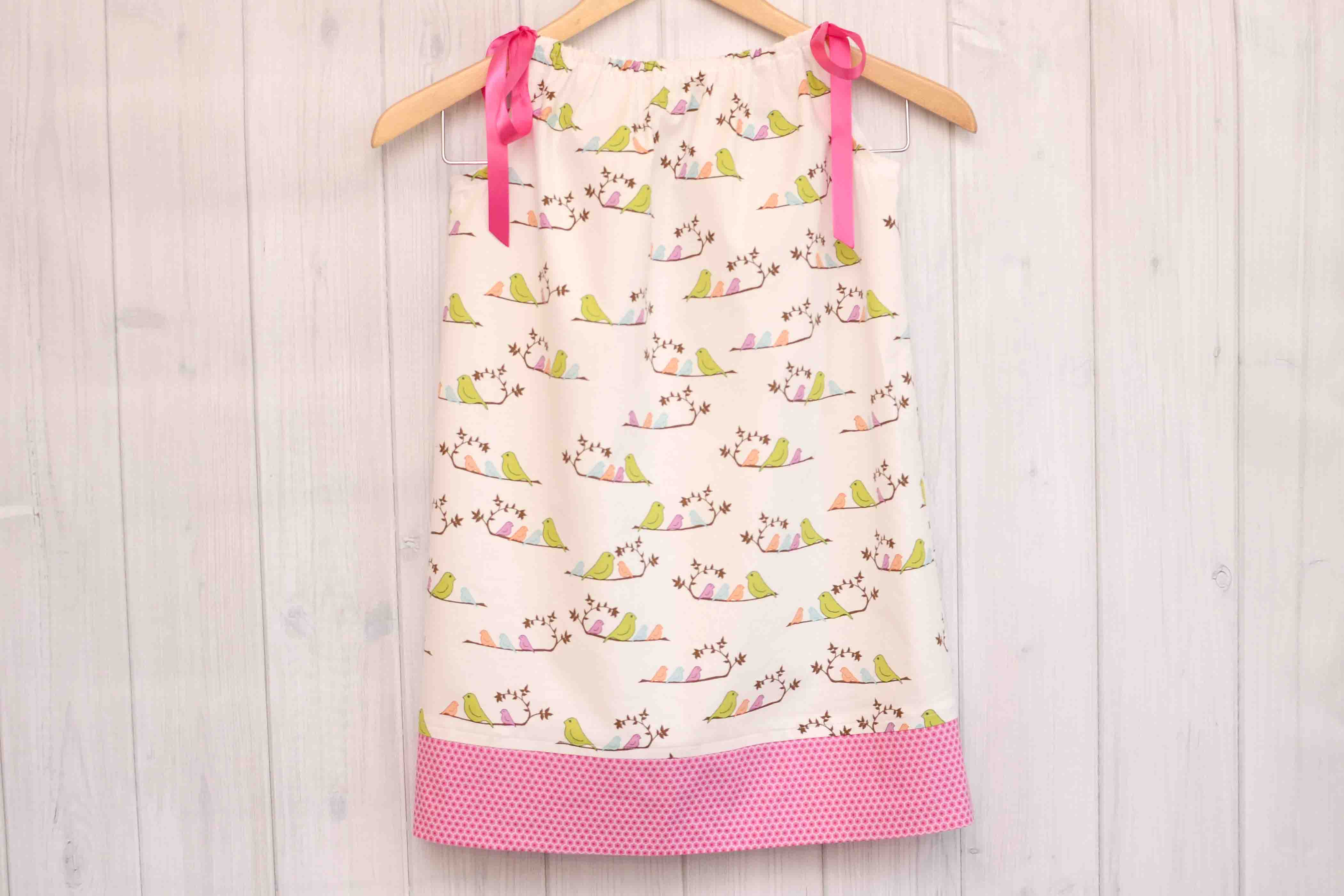 Birds Pillowcase Dress Size 5T Labor of Love Baby Boutique