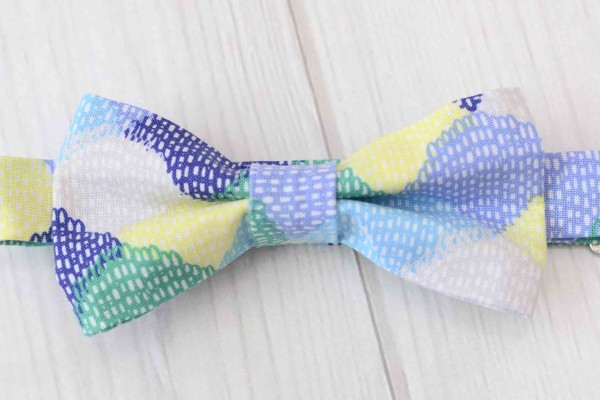 Blue Scallops Bow Tie