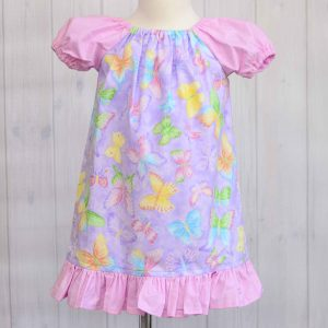 Butterfly Peasant Dress