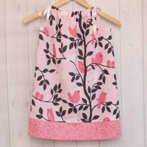 Pink Birds Pillowcase Dress