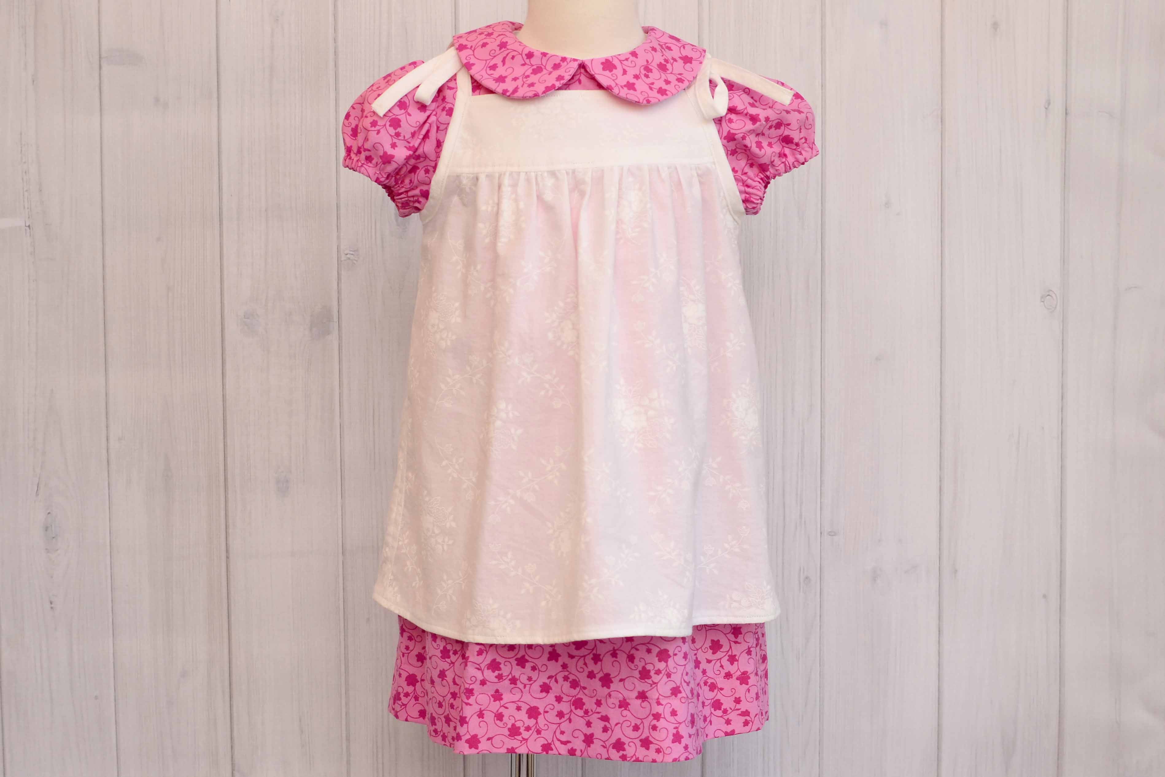Pink Dress with Pinafore Size 3T Labor of Love Baby Boutique