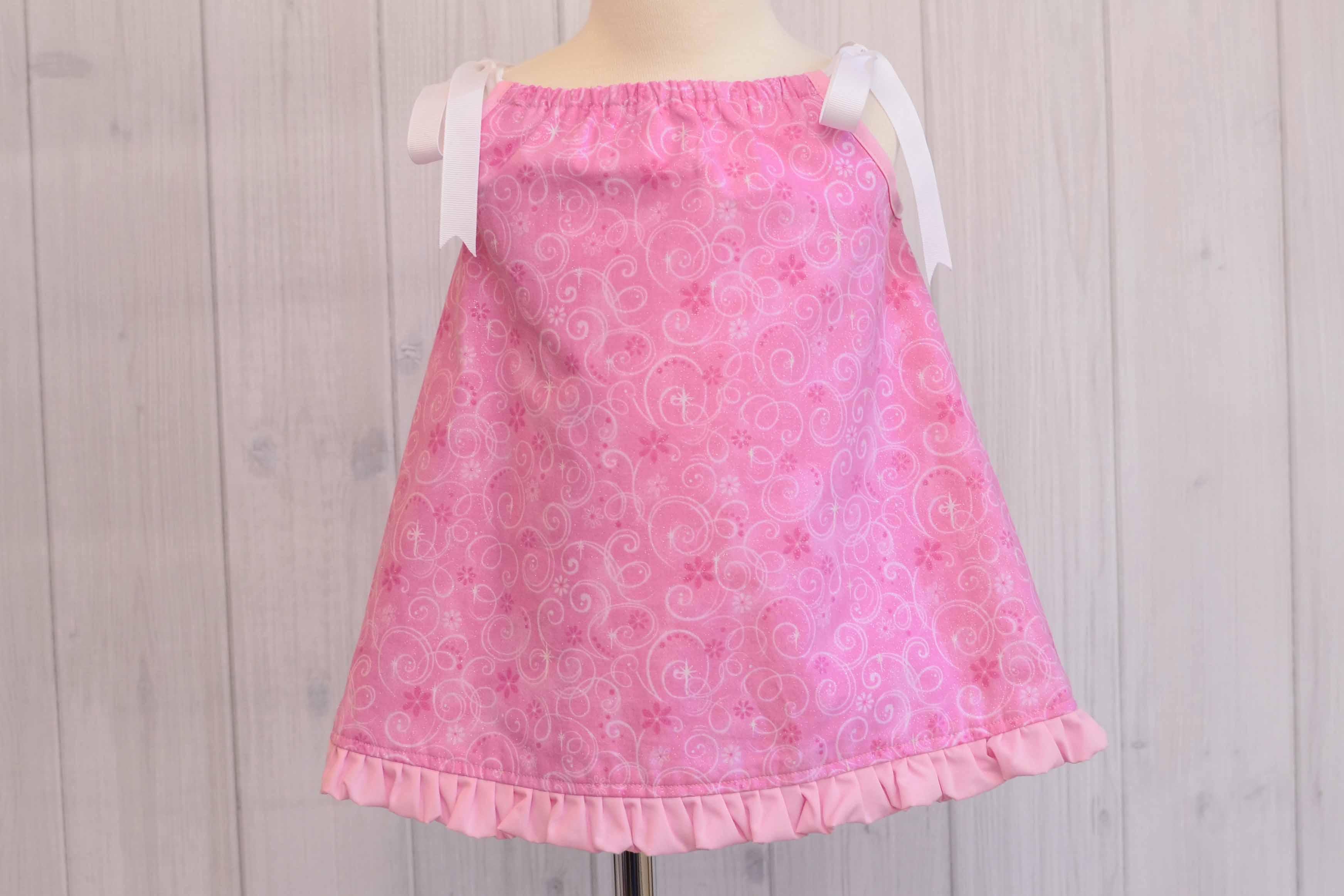 Pink Glitter Pillowcase Dress Size: 6-9 Months