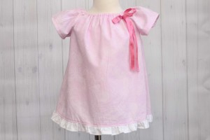 Pink Peasant Dress