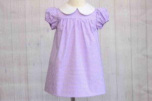 Purple Gingham Dress