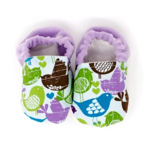 Purple Birds Baby Shoes