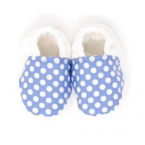 Blue with White Dots Shoes