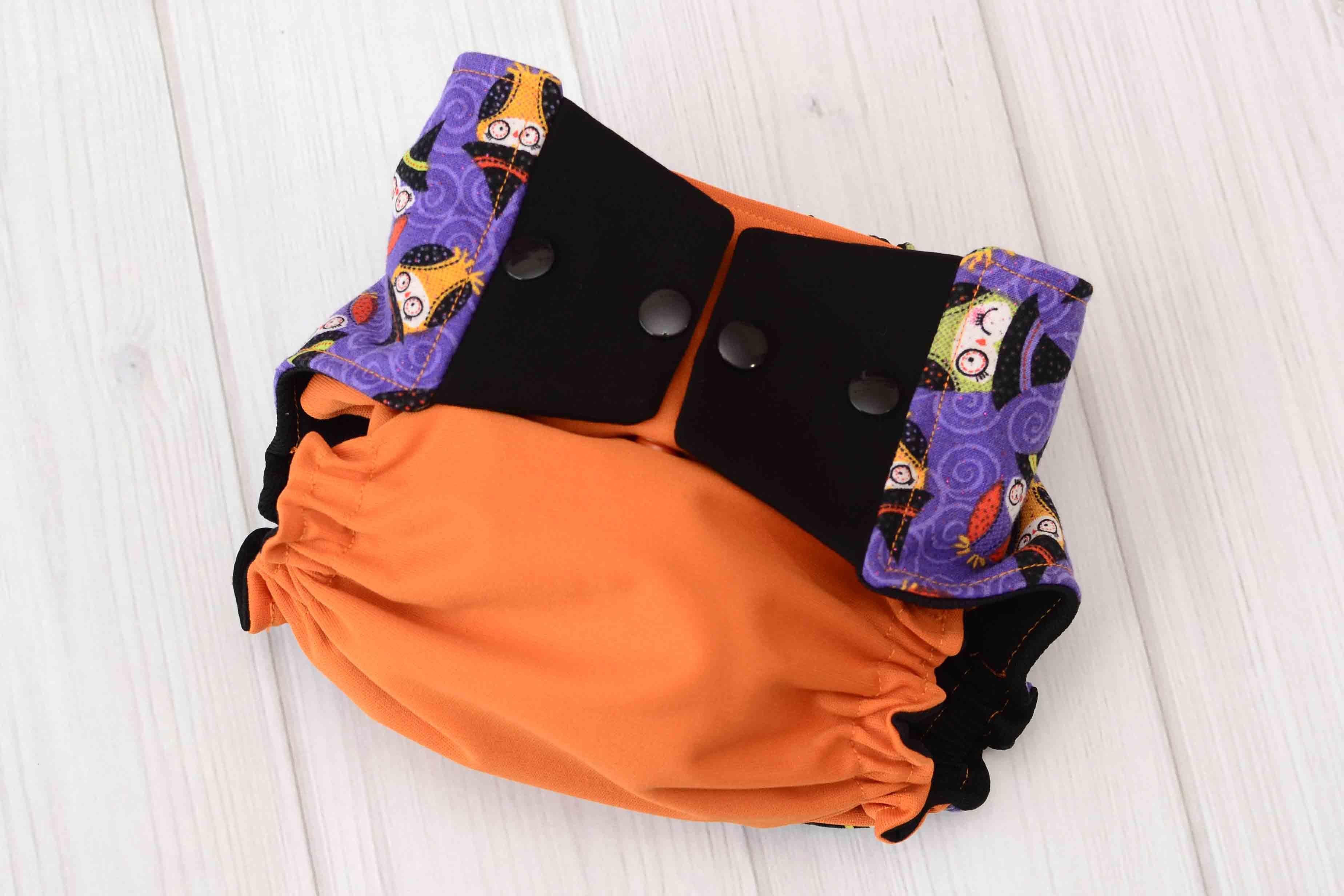 halloween owls cloth diaper cover