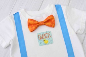 Duck Suspender & Bow Tie Shirt