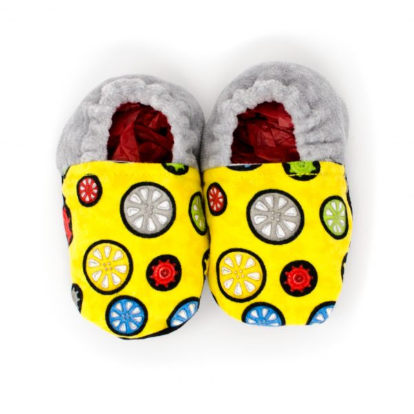Yellow Gears Baby Shoes