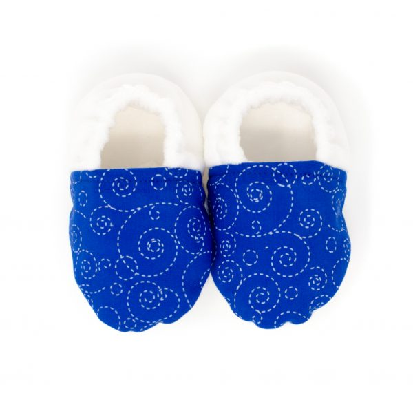 Blue Swirl Baby Shoes