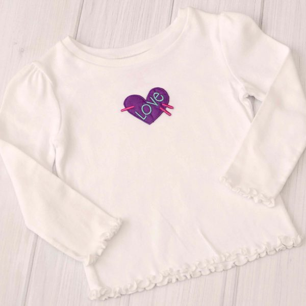 Love Applique Shirt