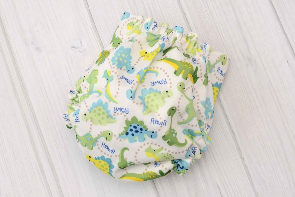 Blue Dinosaur Cloth Diaper Cover
