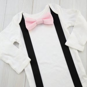 Blush Pink Bow Tie Shirt