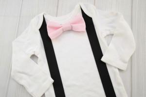 Blush Pink Bow Tie Shirt