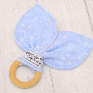 Blue Stars Teething Ring