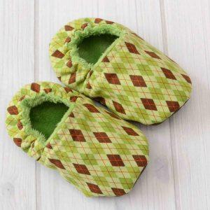 Green Argyle Shoes