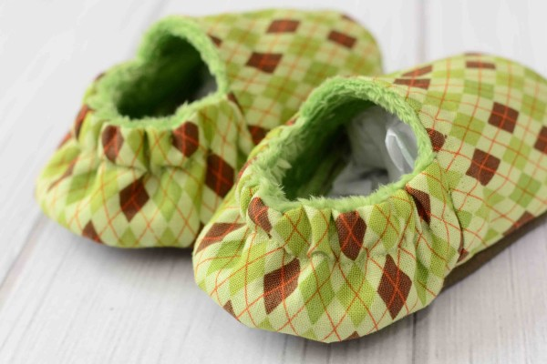Green Argyle Shoes