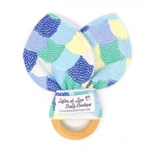Blue Scallops Teething Ring