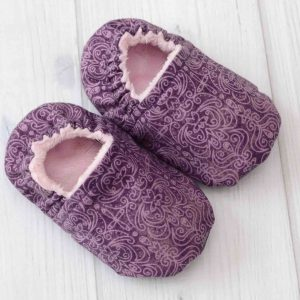 Purple Scroll Baby Shoes