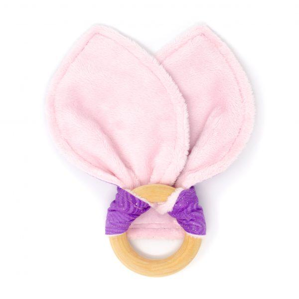 Purple Swirl Teething Ring