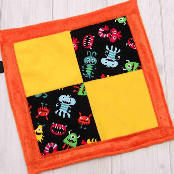 Monster Sensory Blanket Toy