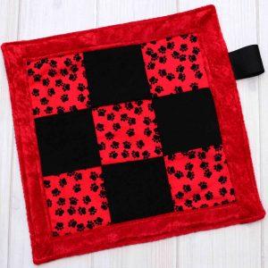 Paw Print Sensory Blanket Toy