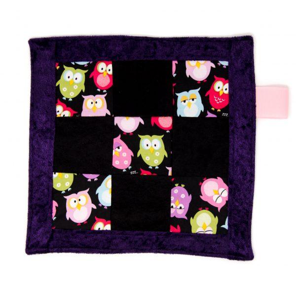 Owls Sensory Blanket Toy