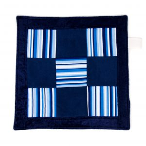 Navy Stripe Sensory Blanket Toy