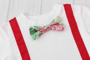 Snowflake Bow Tie & Suspender Shirt