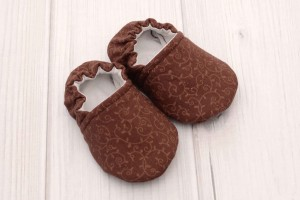Brown Vines Baby Shoes