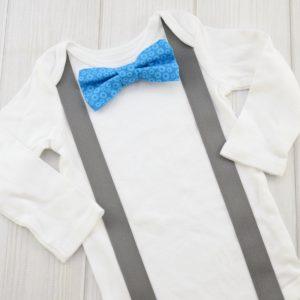 Blue Gears Bow Tie
