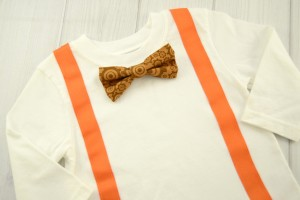 Brown Gears Bow Tie Shirt